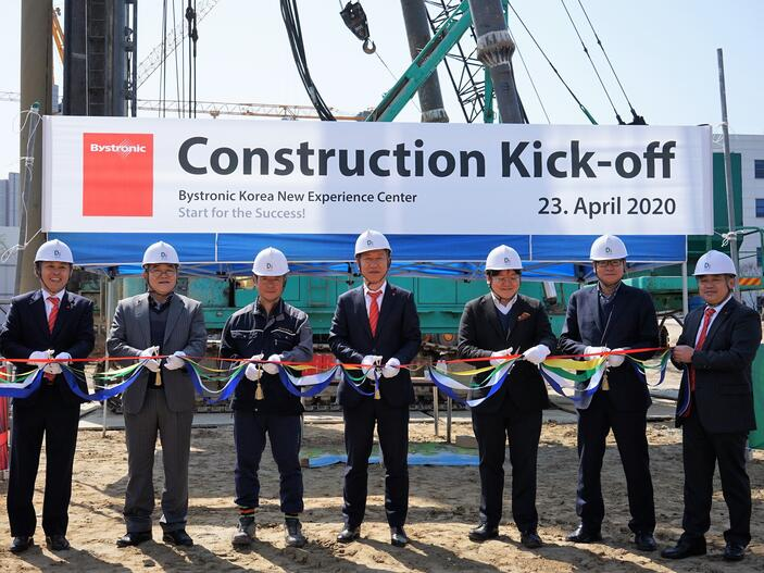 Groundbreaking ceremony for the new Experience Center in South Korea