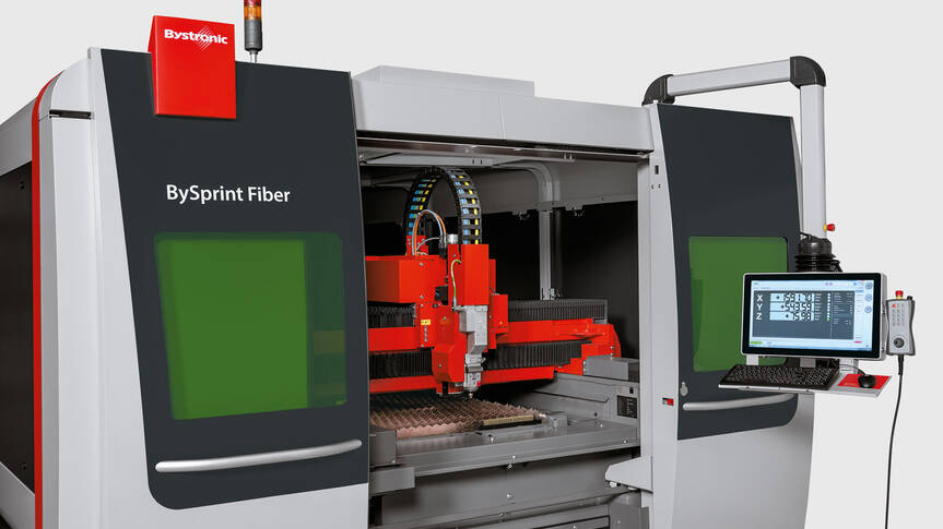 The BySprint Fiber 12020 can be equipped with the Fiber 3000, 4000, or 6000 laser sources, depending on the user's requirements.