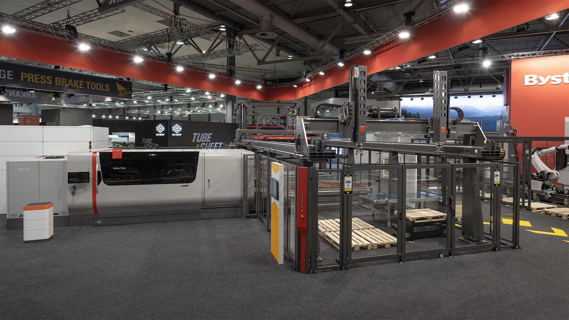 The fully automated Production Line – Bystronic