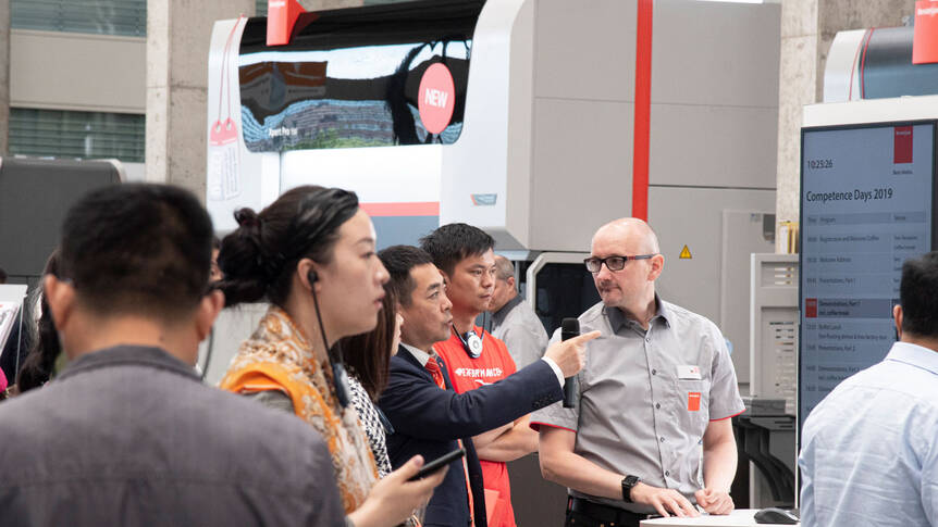 International visitors: More than 1200 guests visited Bystronic at its headquarters in Niederönz, Switzerland.