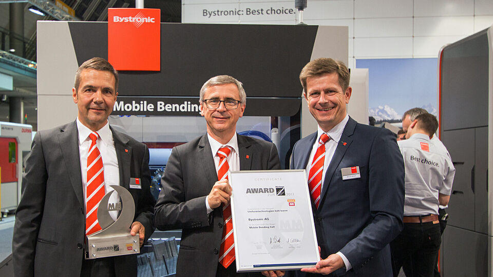 Blechexpo: Award für Mobile Bending Cell