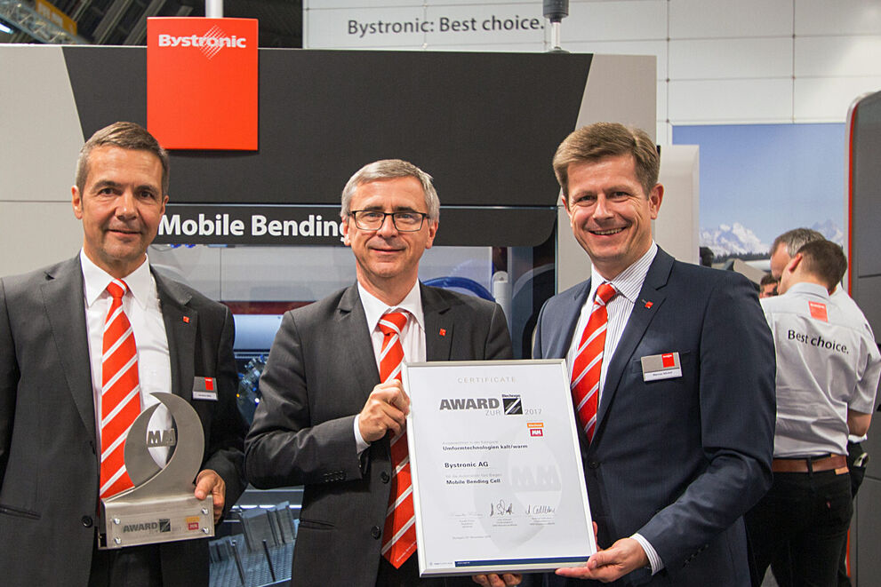 Blechexpo: Award for the Mobile Bending Cell