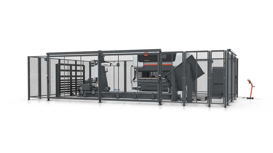 Fully automatic bending solution: The Bending Cell is just as ideally suited for the processing of long job lists as for varying orders – from small batch sizes right through to large series.